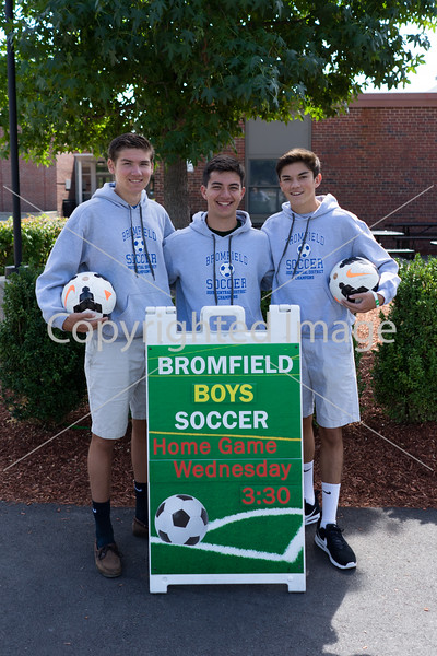 Bromfield boys and girls soccer teams kick-off the season this week.  The varsity girls opened with a home game against North Middlesex on Wednesday.  The Varsity boys captains Alex Lee, Joe Cabresi, and Colin Grant will lead the boys through three away games before their first home game on Wednesday, September 21st at 3:30pm.