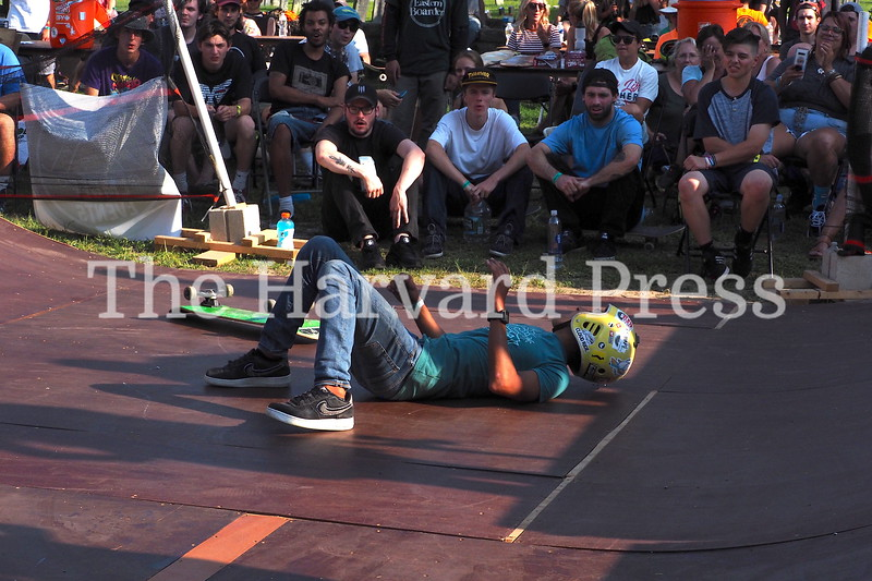 """2019 Central Mass Skateboard Festival<br /> Jose Aparicio from Puerto Rico hits the deck. """"If you are not falling, you are not skating hard enough"""""""