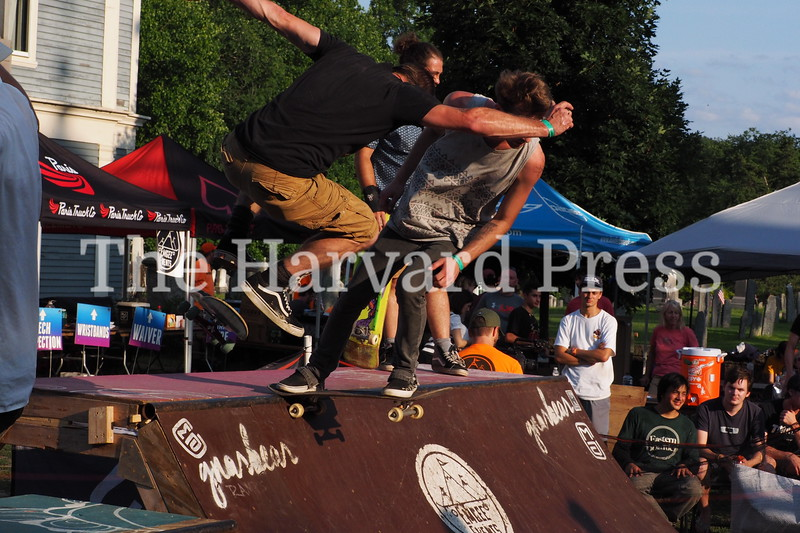 2019 CMASS 10 Skate Fest<br /> Close quarters during the finals minutes of the open miniramp jam  session as skaters try to impress the judges.
