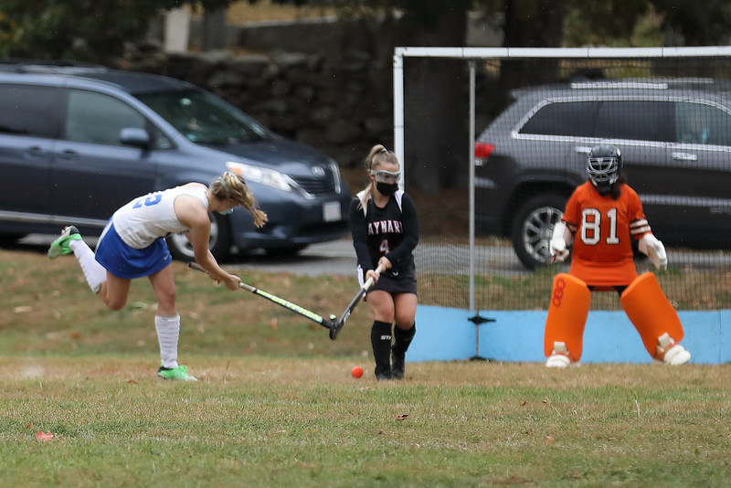 Allie Donahue scores the final goal of the game against Maynard Oct. 12. (Photo by Lisa Aciukewicz)