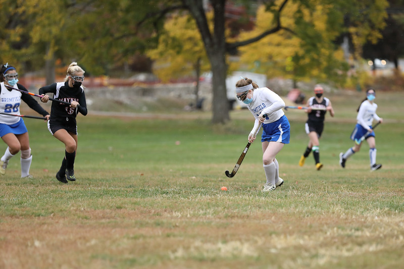 Co-captain Maible Daily takes control of the ball.  (Photo by Lisa Aciukewicz)