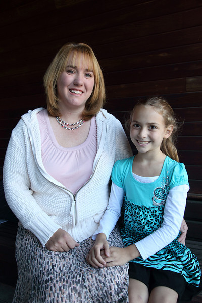 Tammy Route and her daughter, Courtney, share a quiet moment before the day begins. Tammy will be with the special education department at the elementary school and her daughter, Courtney, is entering the third grade.