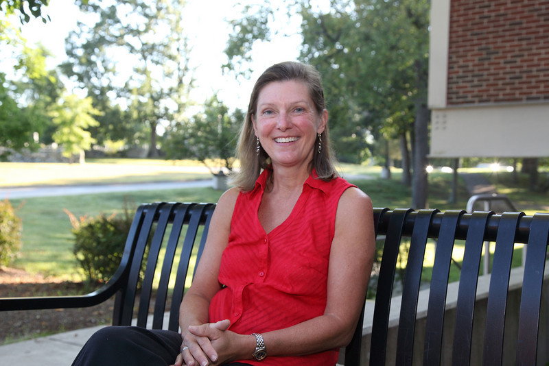 Susan Downing, the new school psychologist at Bromfield. (Photo by Lisa Aciukewicz)