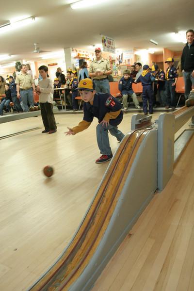 Zachary Sclar sends the ball down the lane.