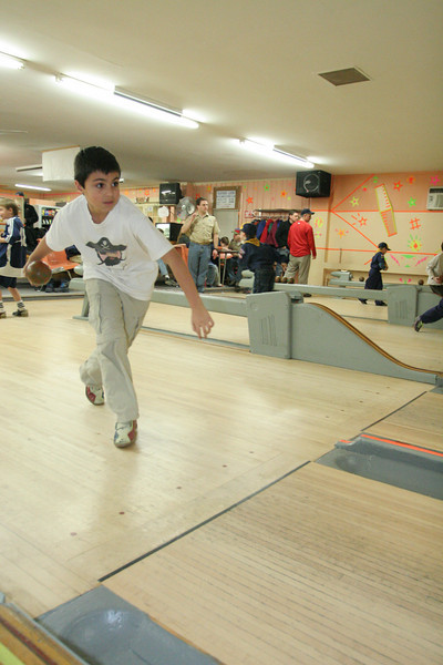 Isaac Abouaf prepares to realease his bowling ball.