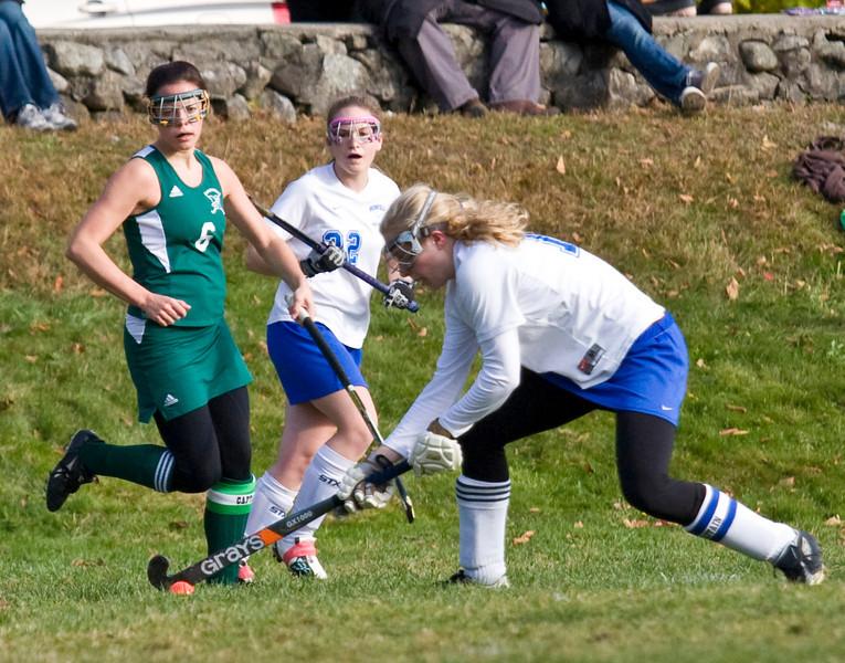 Bromfield versus Nashoba<br /> Sarah Collins<br /> Ashley Jordan in background