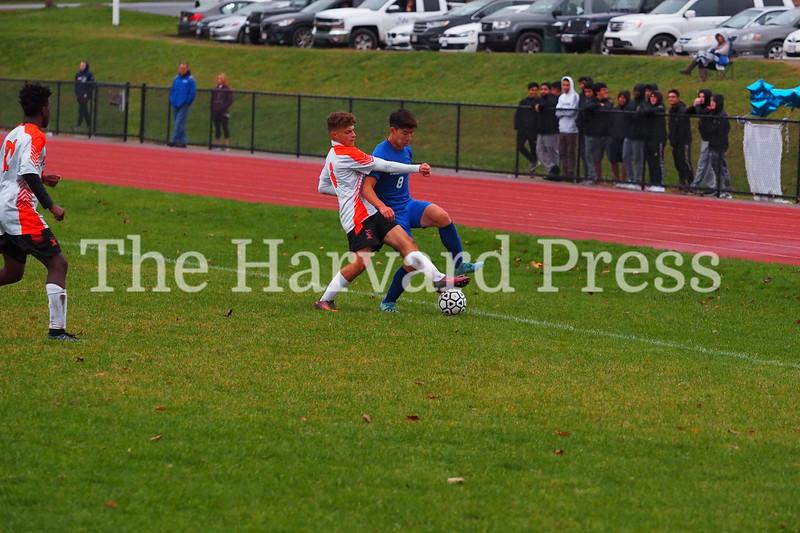Bromfield Men's Soccer Win 5-0<br /> November 5, 2019 at Harvard Park<br /> Bromfield Vs David Prouty Panthers