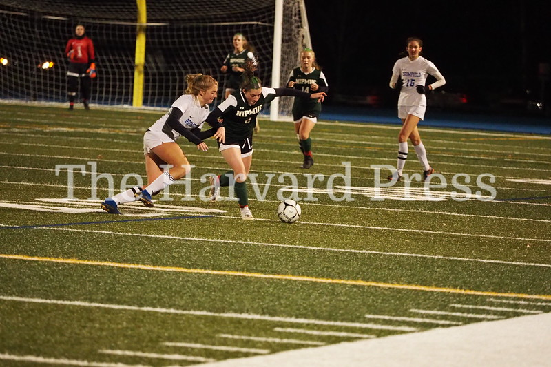 Bromfield Women's Soccer vs Nipmuc<br /> Bromfield Wins 1-0 after two scoreless overtime periods.  It came down to a series of two shoot outs.