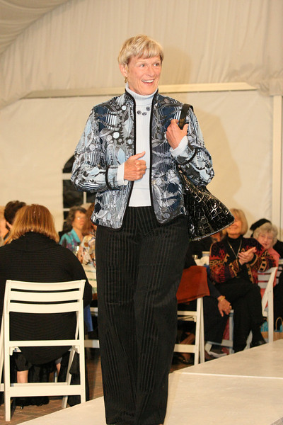 Carlene Phillips dons a tapestry jacket by Khangura--a company who's products are made in the U.S.A.