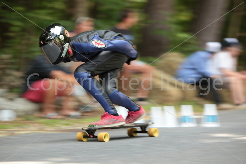 Joey Nickell flies by on his way to winning the junior division downhill.