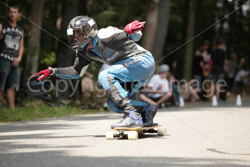 Mcdonald Predelus of Ghost Skate strikes a pose.