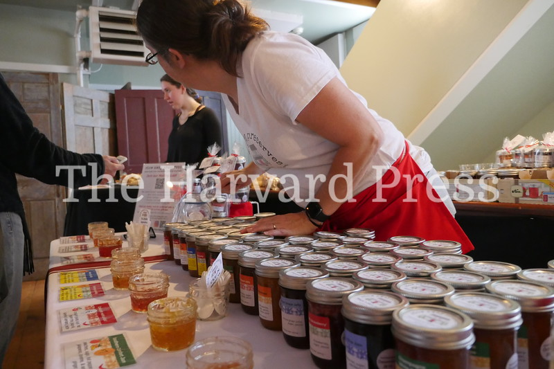 December Fest<br /> Lunch with Santa<br /> Holiday Market at the General<br /> Craft Fair at Five Sparks<br /> <br /> Heather Flemming of Stow Away preserves inspects her collection on display upstairs at the General Store