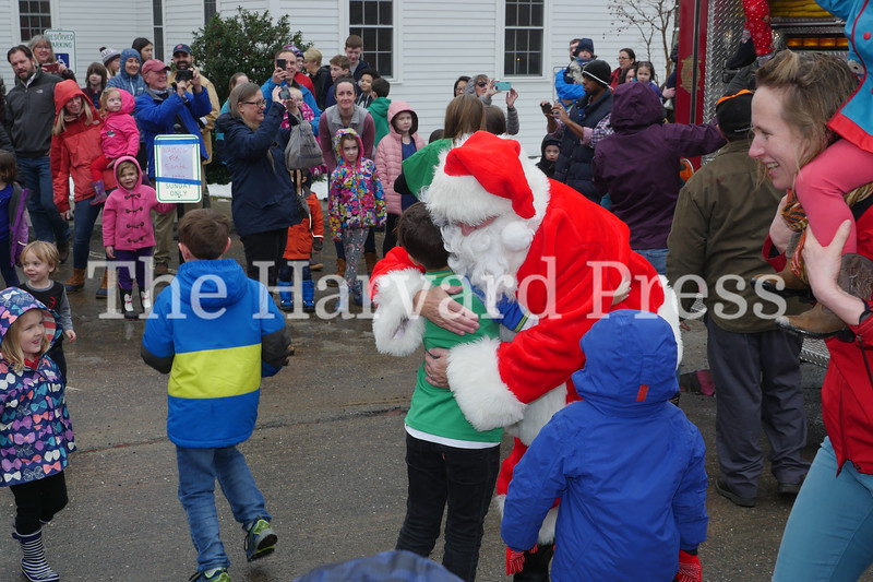 December Fest<br /> Lunch with Santa<br /> Holiday Market at the General<br /> Craft Fair at Five Sparks<br /> <br /> Children flock to Santa for the first hug from the jolly fellow