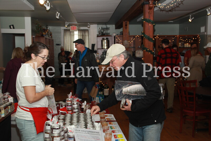 Looks like Scott Hayward was grabbing some jam at Stow Away Preserves as Heather Fleming looked on.