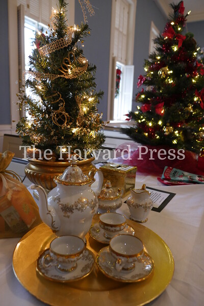 December Fest<br /> Lunch with Santa<br /> Holiday Market at the General<br /> Craft Fair at Five Sparks<br /> <br /> Elegant offering of china and cocoa await the lucky winner at this tree at the festival of trees