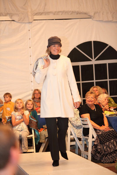 Rochelle Greayer steps out in a winter-white topper by Maestro and a Parkhust wool hat.