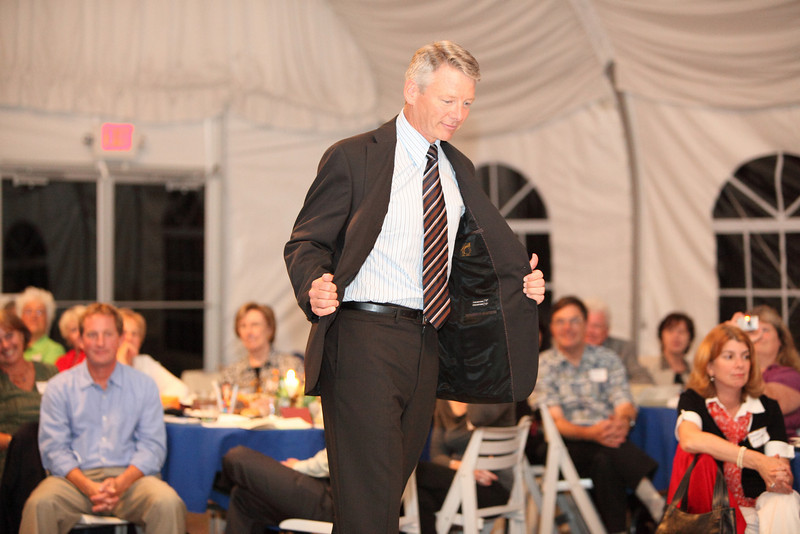 Candidate for Selectman Bill Johnson is all business in a suit by S. Cohen and a shirt by Joseph Abboud.