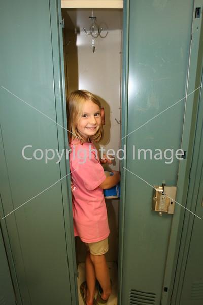 Phoebe von Conta check out her new locker.