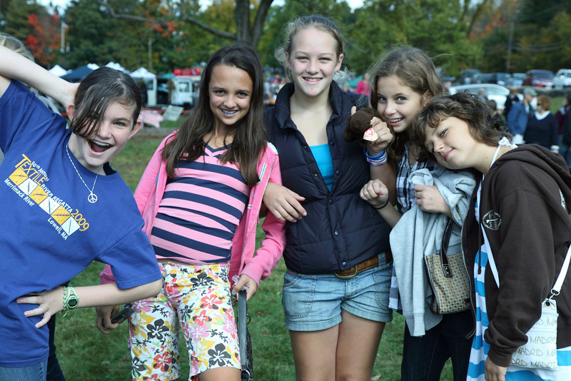 Seventh-graders Emma Kenny-Pesia, Emma Keany, Aliza Maki, Yonah Joffe and Eliza Agosta ham it up for the camera.
