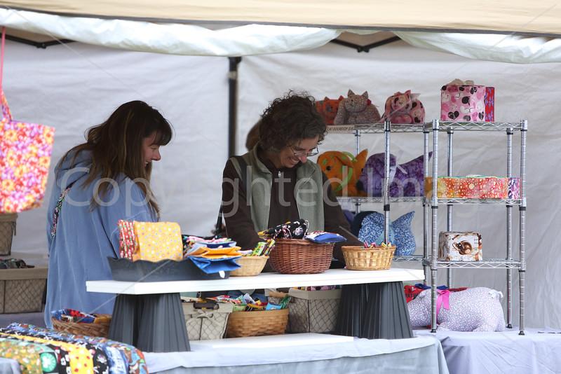Tracy Adams and Sally Carrona do some holiday shopping.