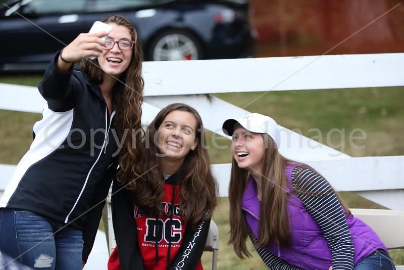 """Let me take a selfie!"" From left: Arielle Mollod-Jones, Grace Barton, and Emma Stoeffel pose for a selfie."