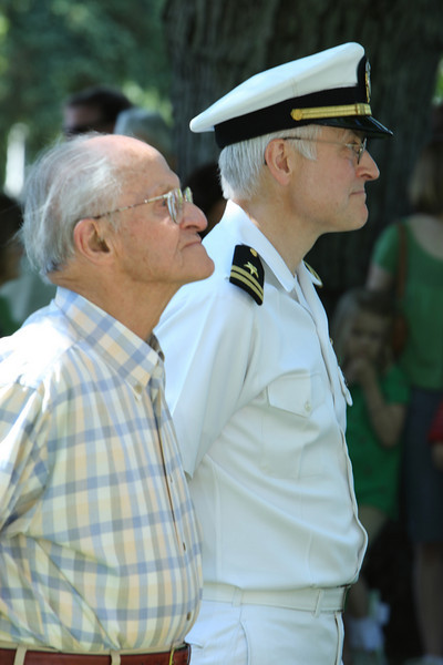 Paul von Loeseke and his son Peter von Loeseke represent two generations of service in the Memorial Day Parade.