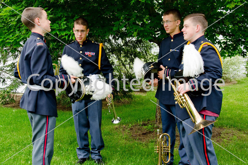 Joe Duffy, Chris Fill, Tim Fill, and John Mick from Immaculate Heart of Mary School Band