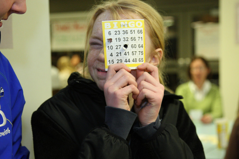 Emily Hadorn comes up with a creative use for a bingo sheet.