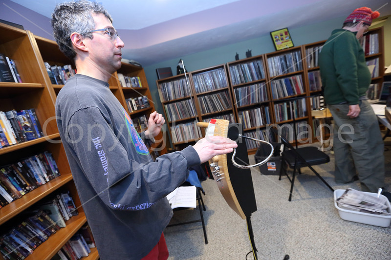 Jon Bernhardt plays the Theremin.