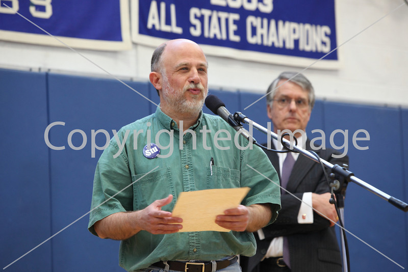 Stu Sklar and Keith Cheveralls at Annual Town Meeting 2010