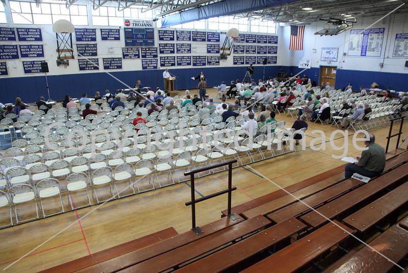 Only about 75 residents were present to kick off Annual Town Meeting at 9 a.m. on May 1, 2010