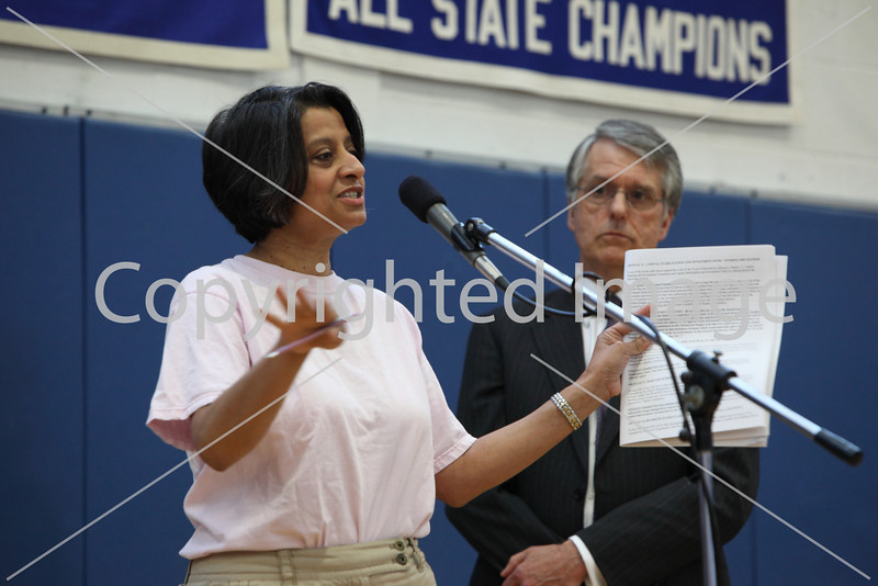 Piali De at Annual Town Meeting 2010