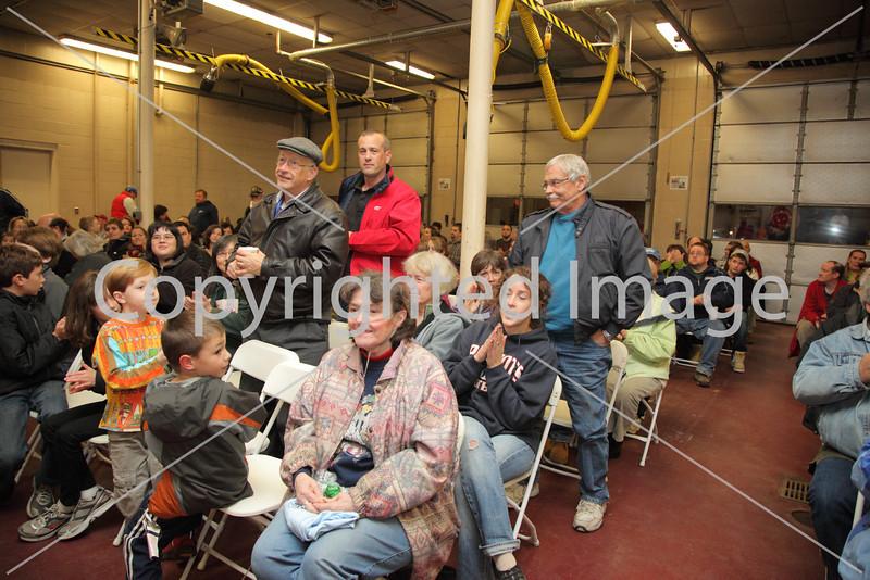 Standing from left: Bob Watkins, Al Allard, and John Yates were among the Veterans honored at the Turkey Raffle, Friday, Nov. 11.