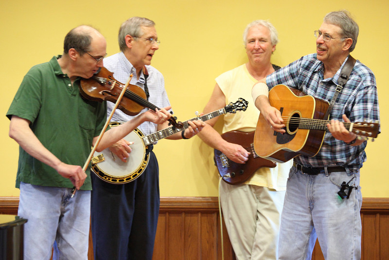 Davel Kassel, Gary Shaw, Stuart Ervin, and David Atwood of the Route 111 Valley Boys perform some old time music.