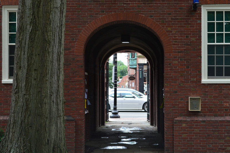 Tunnel into Harvard Yard