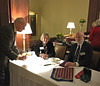 Check-in at the 850th Meeting of the Harvard Travellers Club, Harvard Club. January 12, 2015. At the table: DebbieSwanson and Michael Greene.