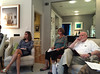 HTC Council summer meeting in the South End house of Peter Creighton. September 13, 2016. Darcy Jameson. Barbara Goodchild, Michael Greene, Peter Creighton.