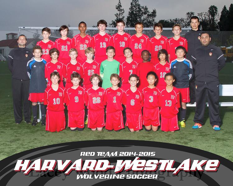 HW Soccer Boys Red Team 8x10 2014