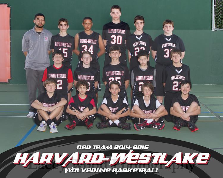 HW Boys Basketball Red Team 8x10 2015 11