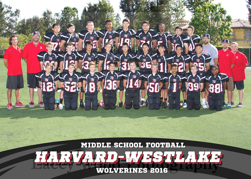 HW MS Football Team 5x7 2016