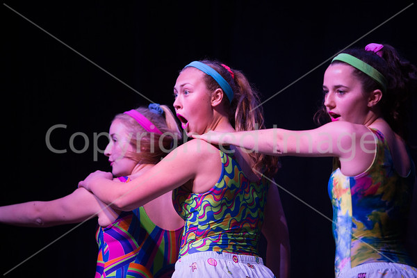 Left to right Cara Olejarz Bailey Borgeois and Jessy Andrews preform When I Grow Up by the Pussycat Dolls.