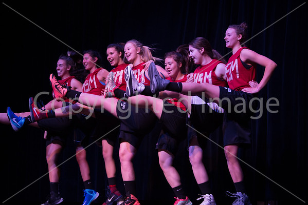 The girls varsity basket ball team lipsync Getcha' Head in the Game by High School Musical. Left to right Maddie Ragno, Lindsey Hoggins, Lexi Norcross, Abbey Pacl, Amy Hunter, Amanda Accorsi and Hanah LoChiatto.