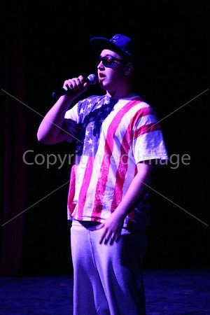 James Sturtz rapping.