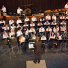 John Schmidt conducts  the middle school symphonic concert band.