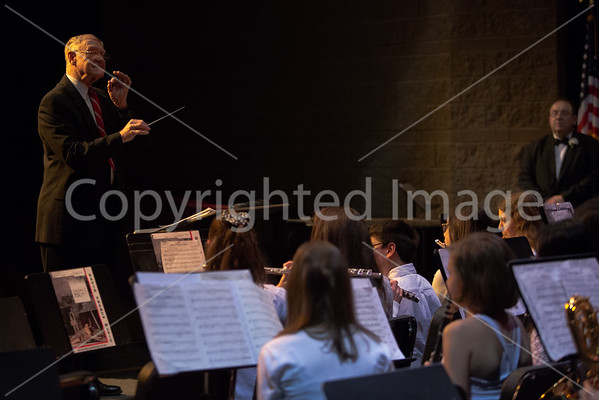 Mr.Schuller, Mr.Renyolds fith grade conductor conducts the 7/8th grade band.