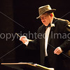"Tom Reynolds wears a Indiana Jones hat for ""Raders March"" from ""Raiders of the Lost Ark"" preformed by the sixth grade concert band."