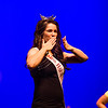 2016 Miss Harvest Homecoming Ollie Ballew blows a kiss to the audience at the Harvest Homecoming pageant on Saturday.