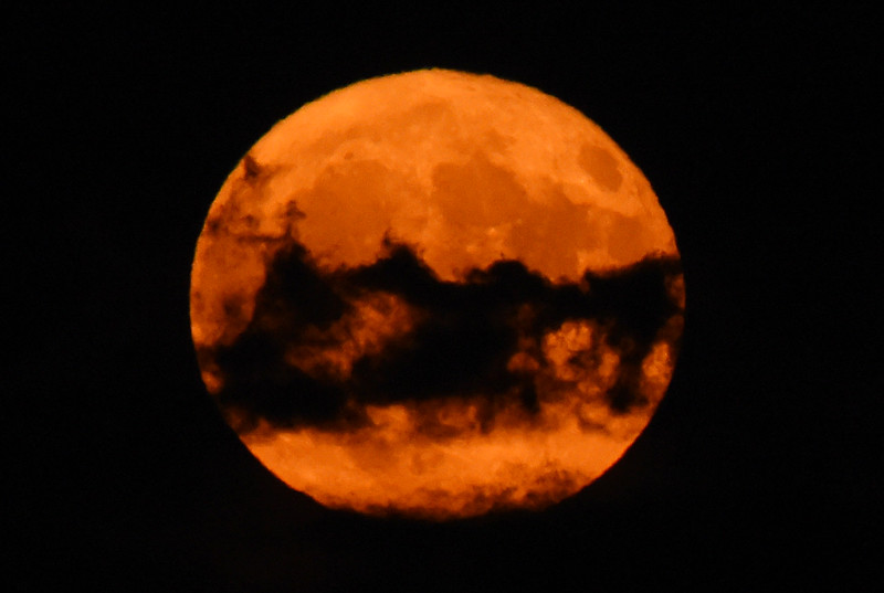 Harvest Moon over Boulder