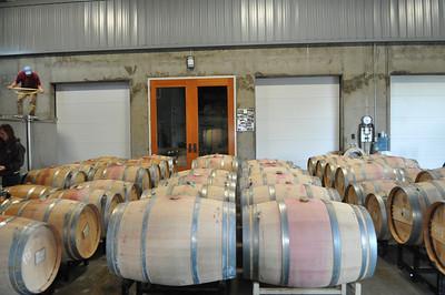 Barrels on the cellar floor