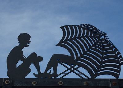 Falling in love under the sun. Jones Beach, Long Island New York